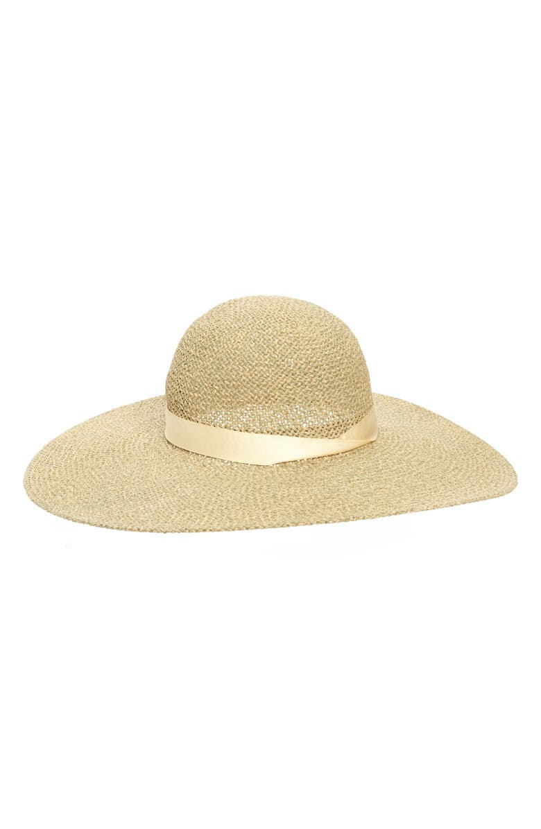 NORDSTROM Floppy Straw Sun Hat, Main, color, NATURAL COMBO