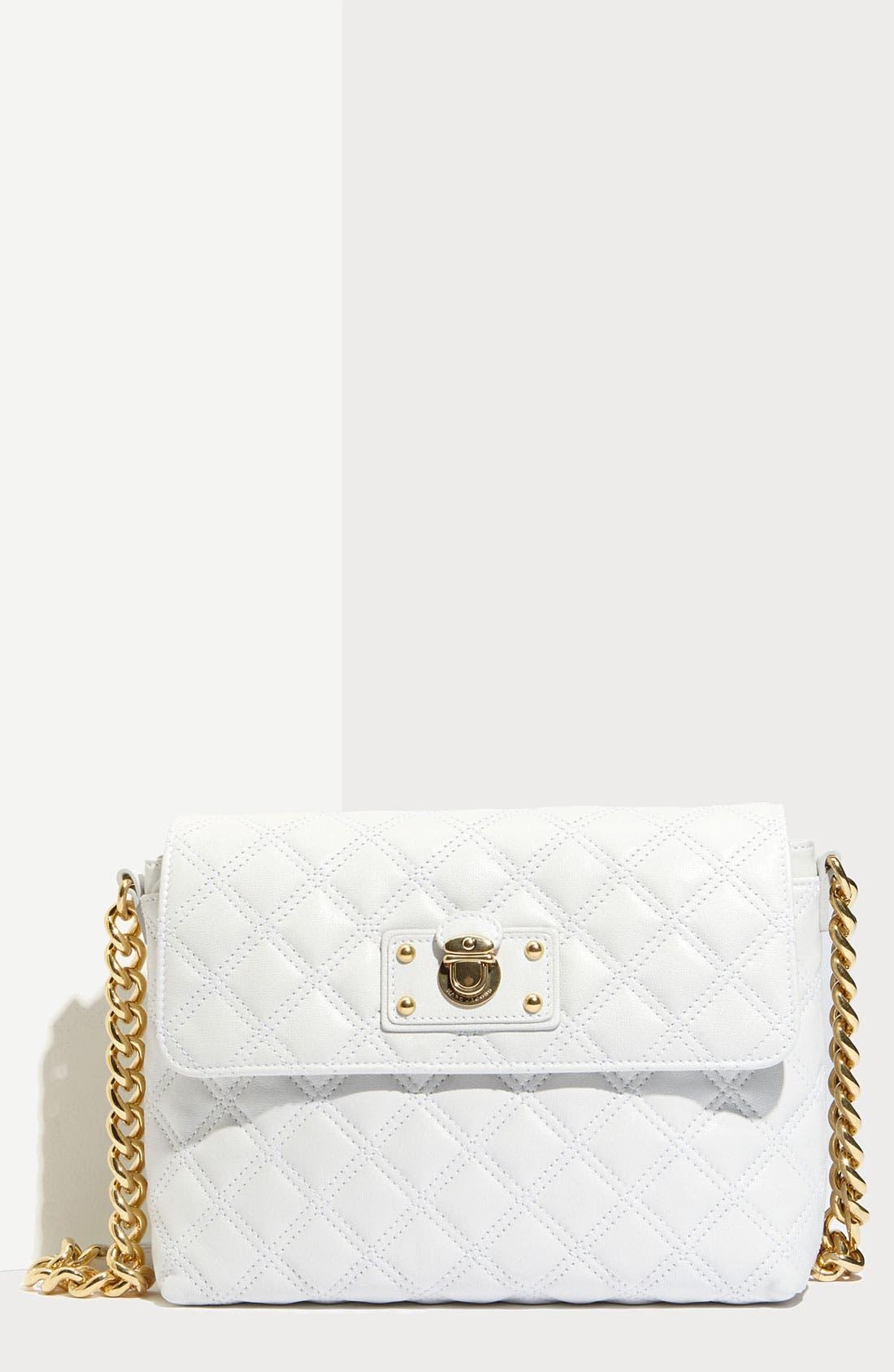 ,                             'Large Quilting Single' Leather Shoulder Bag,                             Main thumbnail 17, color,                             100