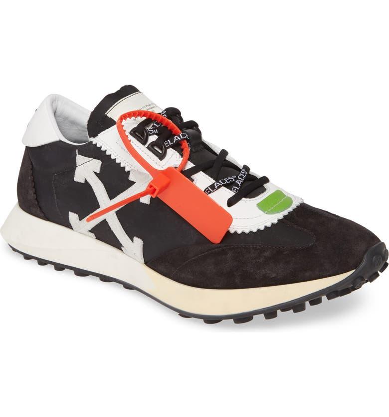 OFF-WHITE Running Sneaker, Main, color, BLACK WHITE