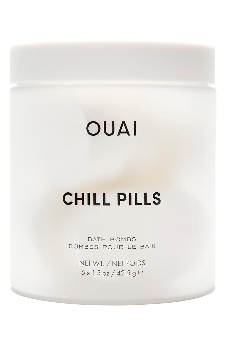 OUAI Chill Pills Bath Bombs, Main, color, NO COLOR