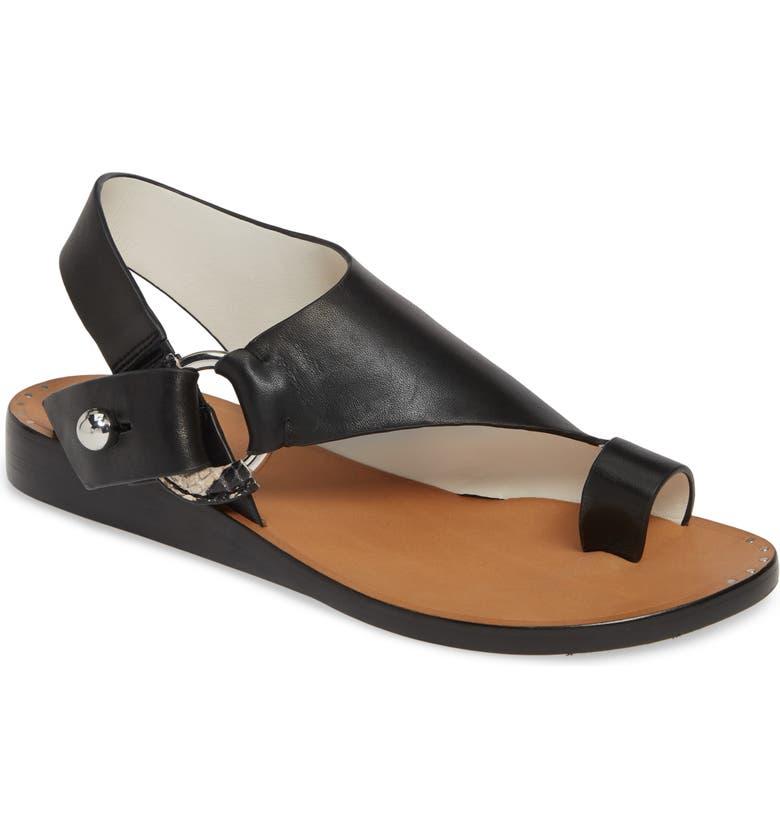 RAG & BONE Arc Toe Loop Sandal, Main, color, 001