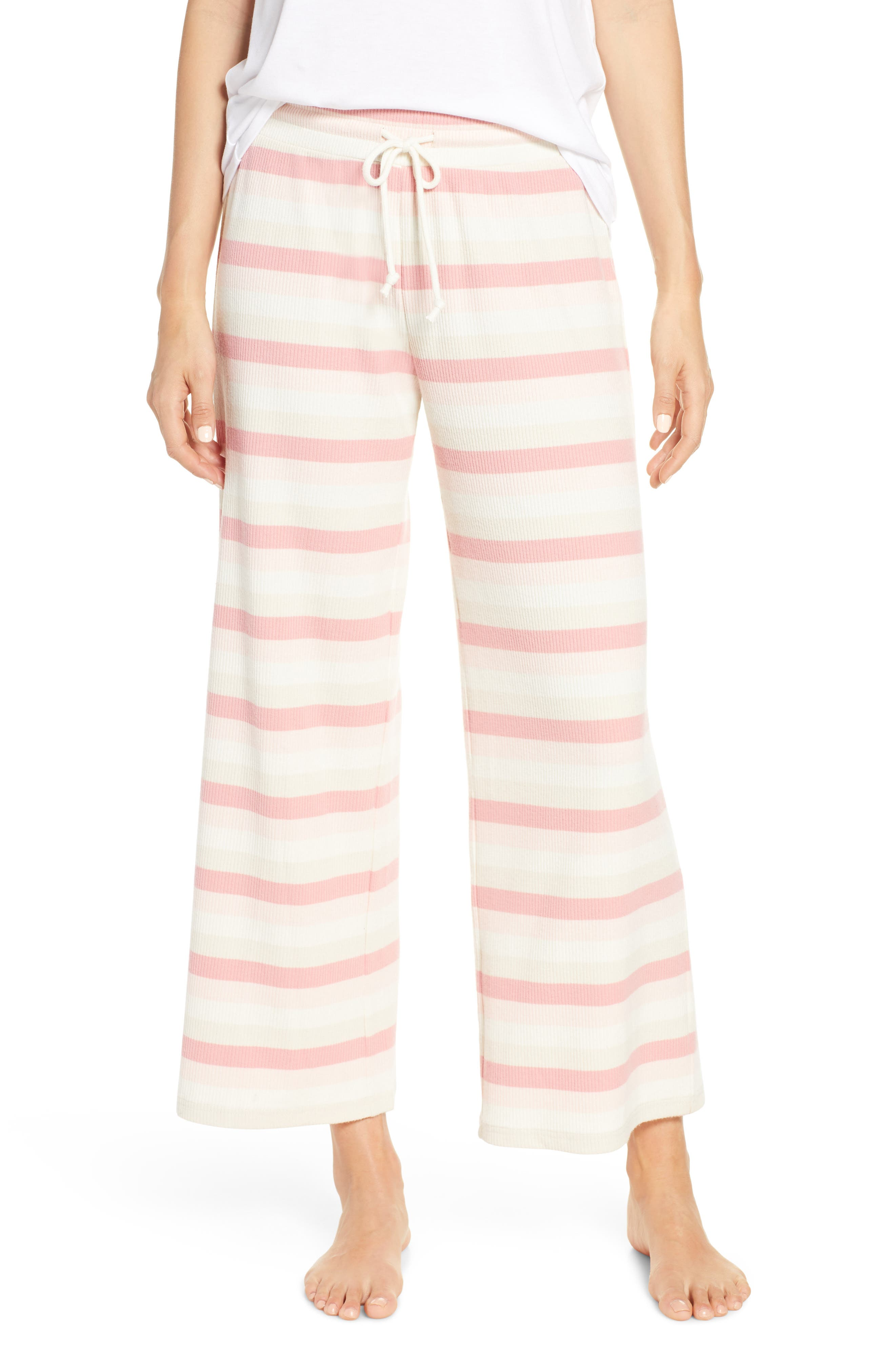 Something Navy Ribbed Pajama Pants, Ivory (Nordstrom Exclusive)