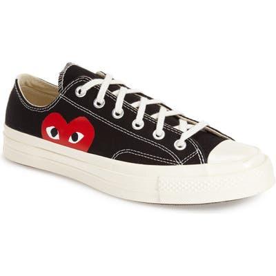 Comme Des Garcons Play X Converse Chuck Taylor Low Top Sneaker- Black