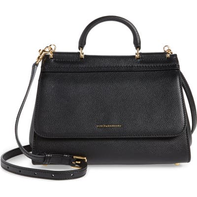 Dolce & gabbana Large Miss Sicily Top Handle Leather Satchel - Black