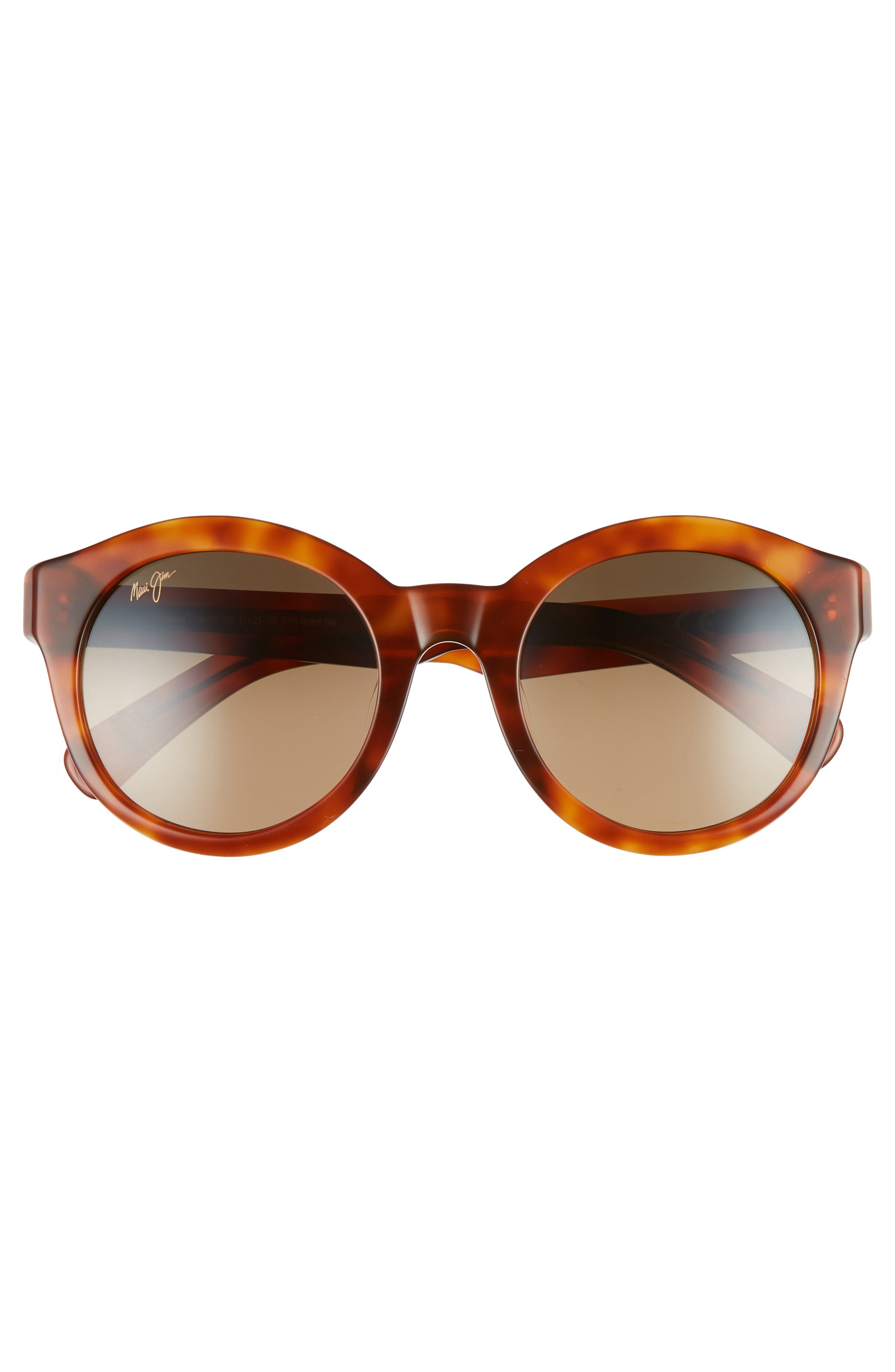 ,                             Jasmine 51mm PolarizedPlus2<sup>®</sup> Round Sunglasses,                             Alternate thumbnail 3, color,                             KOA TORTOISE/ BRONZE