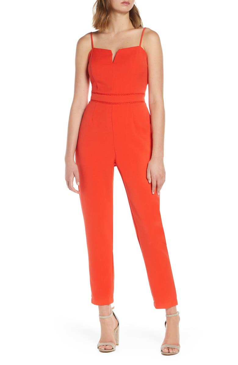 ADELYN RAE Brinley Jumpsuit, Main, color, POPPY