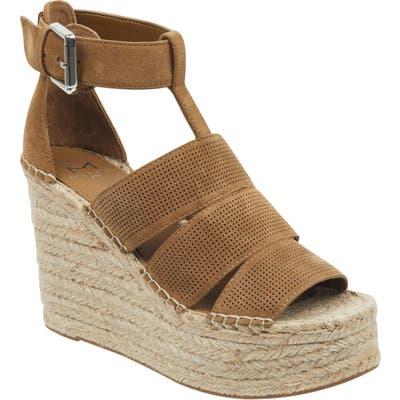 Marc Fisher Ltd Adore Platform Wedge Sandal, Brown