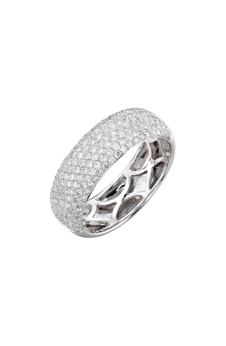 BONY LEVY Pavé Diamond Band Ring, Main, color, WHITE GOLD/ DIAMOND