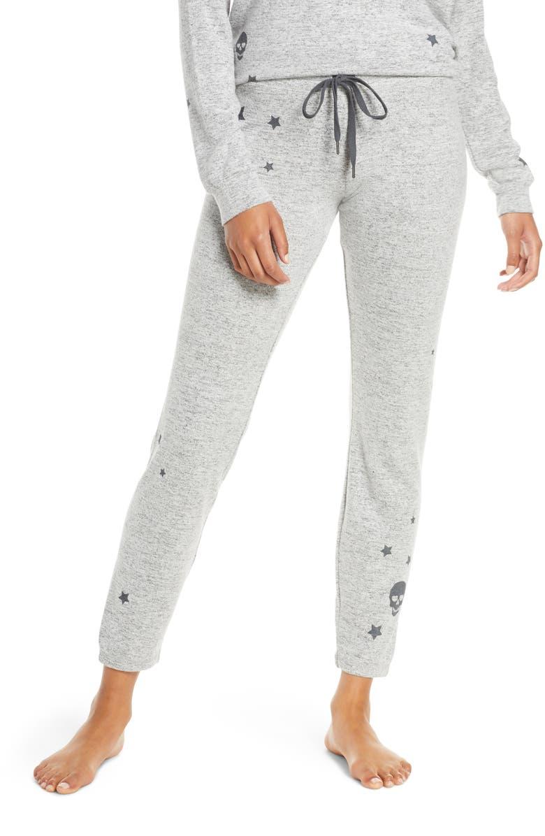 PJ SALVAGE Stars & Skulls Pajama Pants, Main, color, H GREY