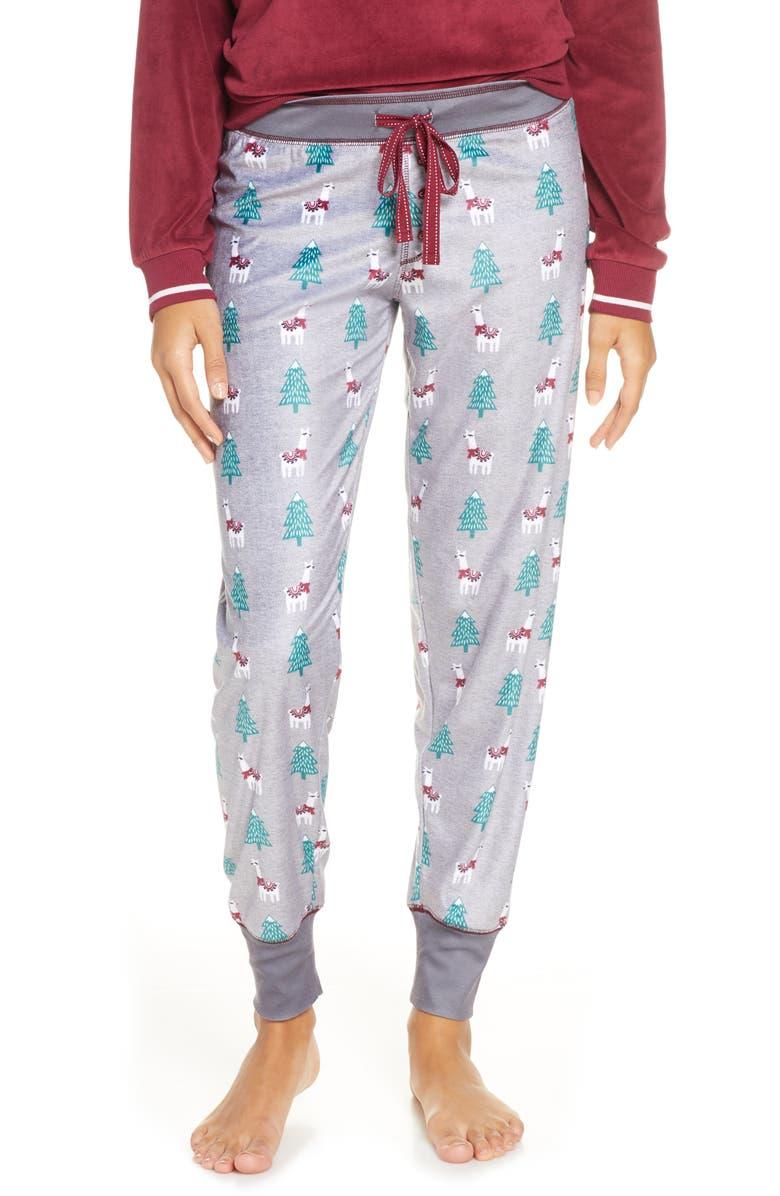 PJ SALVAGE Oh My Velour Pajama Pants, Main, color, 020