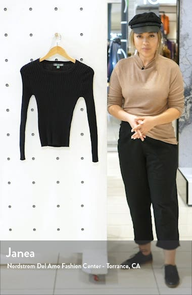 Square Neck Ribbed Sweater, sales video thumbnail