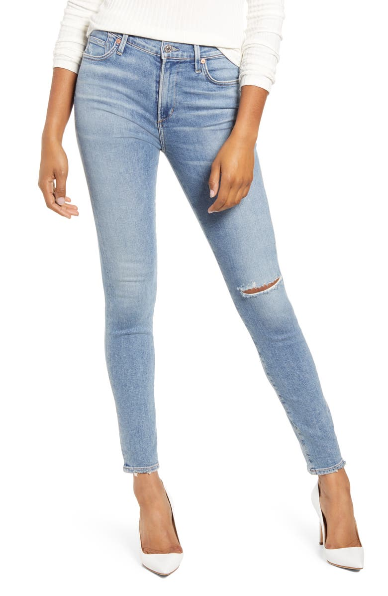 CITIZENS OF HUMANITY Rocket Ripped Skinny Jeans, Main, color, KEEPER