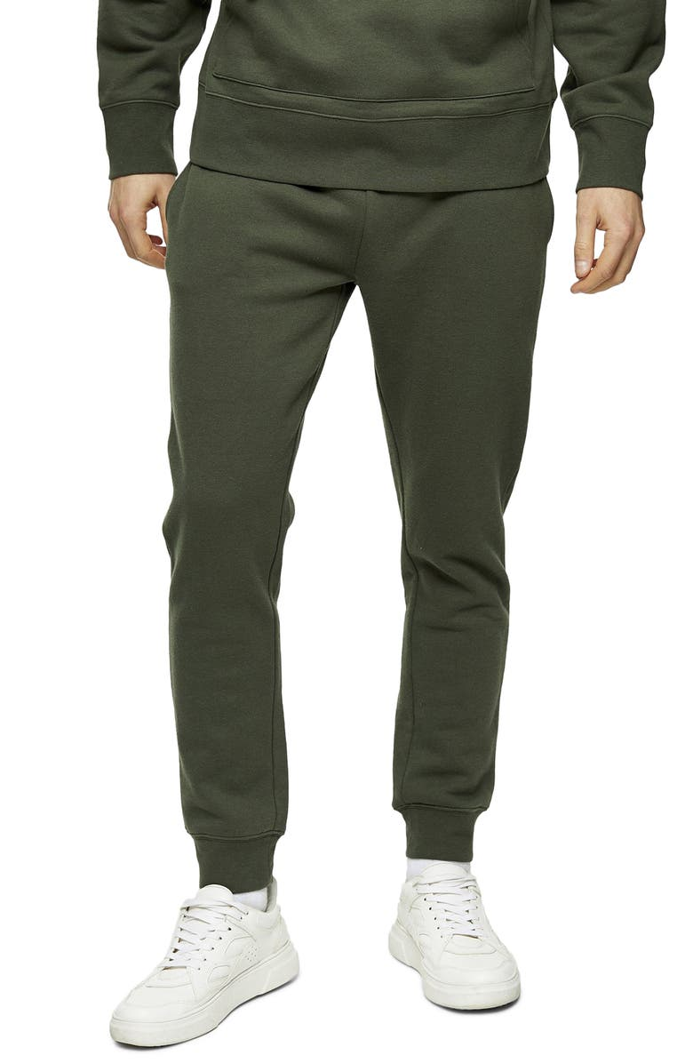 TOPMAN Dry Handle Skinny Fit Joggers, Main, color, OLIVE