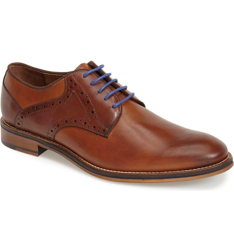 JOHNSTON & MURPHY Conard Saddle Shoe, Main, color, TAN/ DARK BROWN