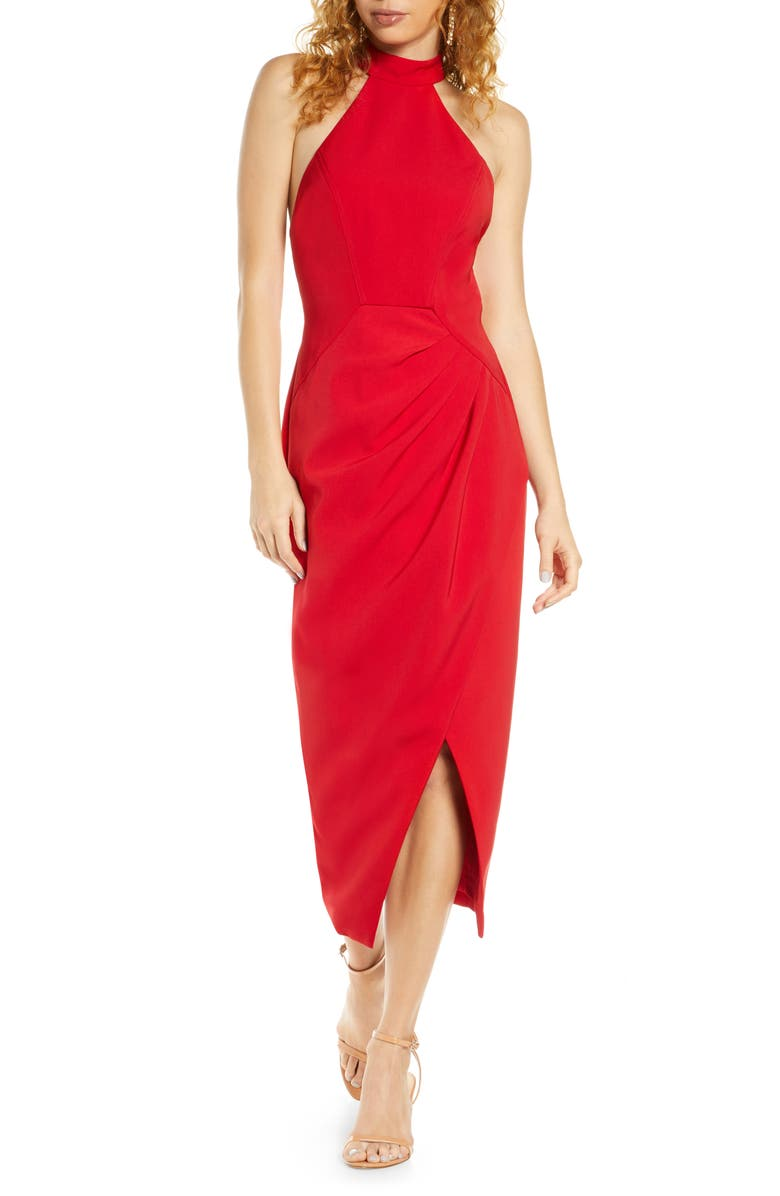 C/MEO COLLECTIVE C/MEO Caliber Halter Midi Dress, Main, color, 600