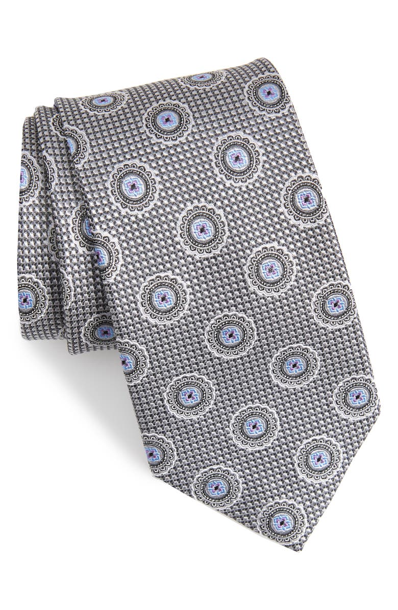 NORDSTROM MEN'S SHOP Medallion Silk Tie, Main, color, 040
