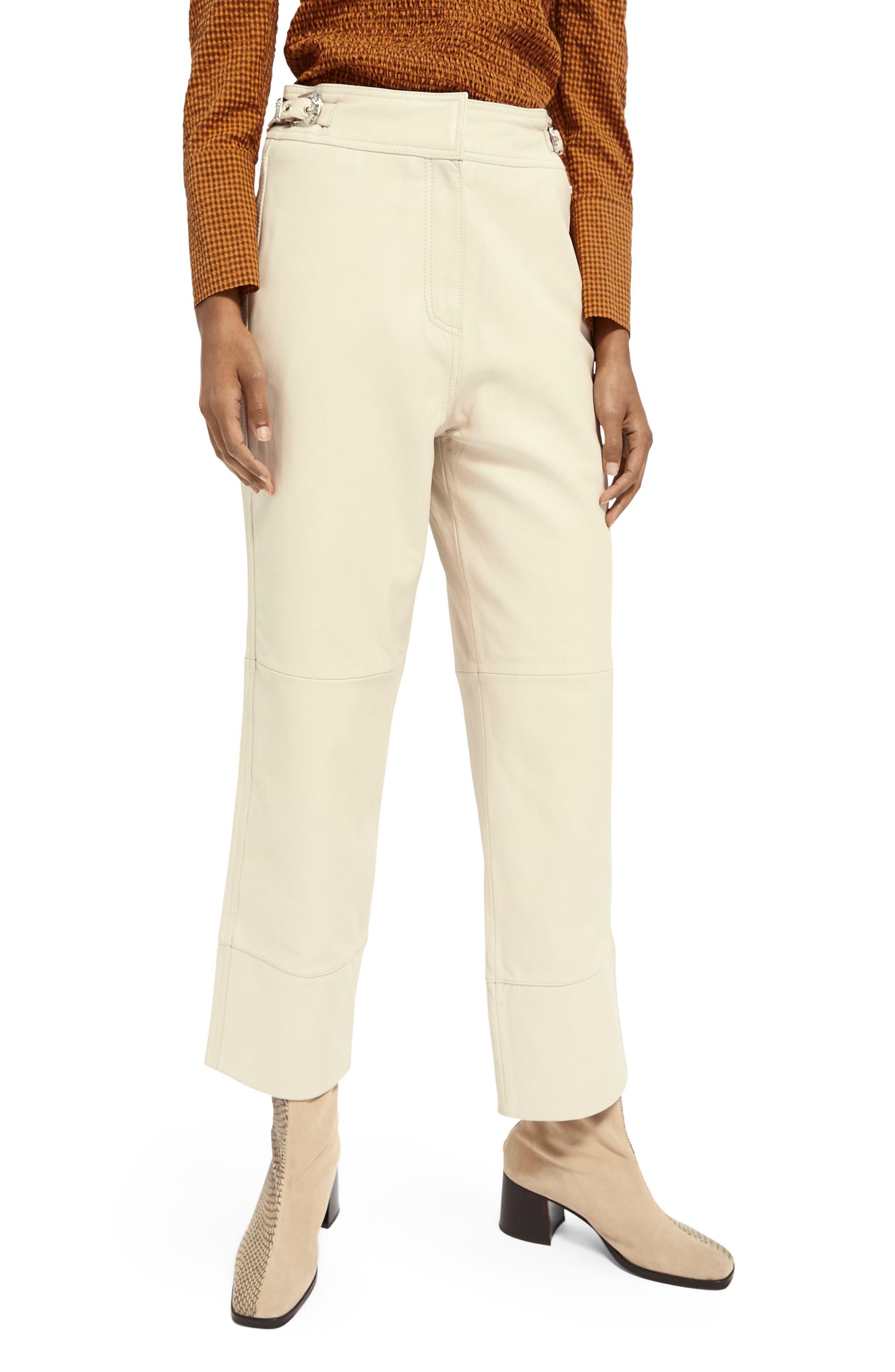 Scotch & Soda Straight Leg Leather Pants   Nordstrom