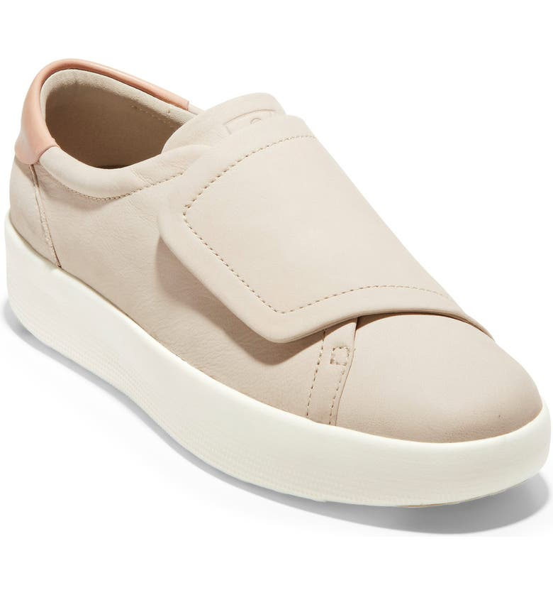 COLE HAAN GrandPro Flatform Sneaker, Main, color, PUMICE STONE NUBUCK LEATHER