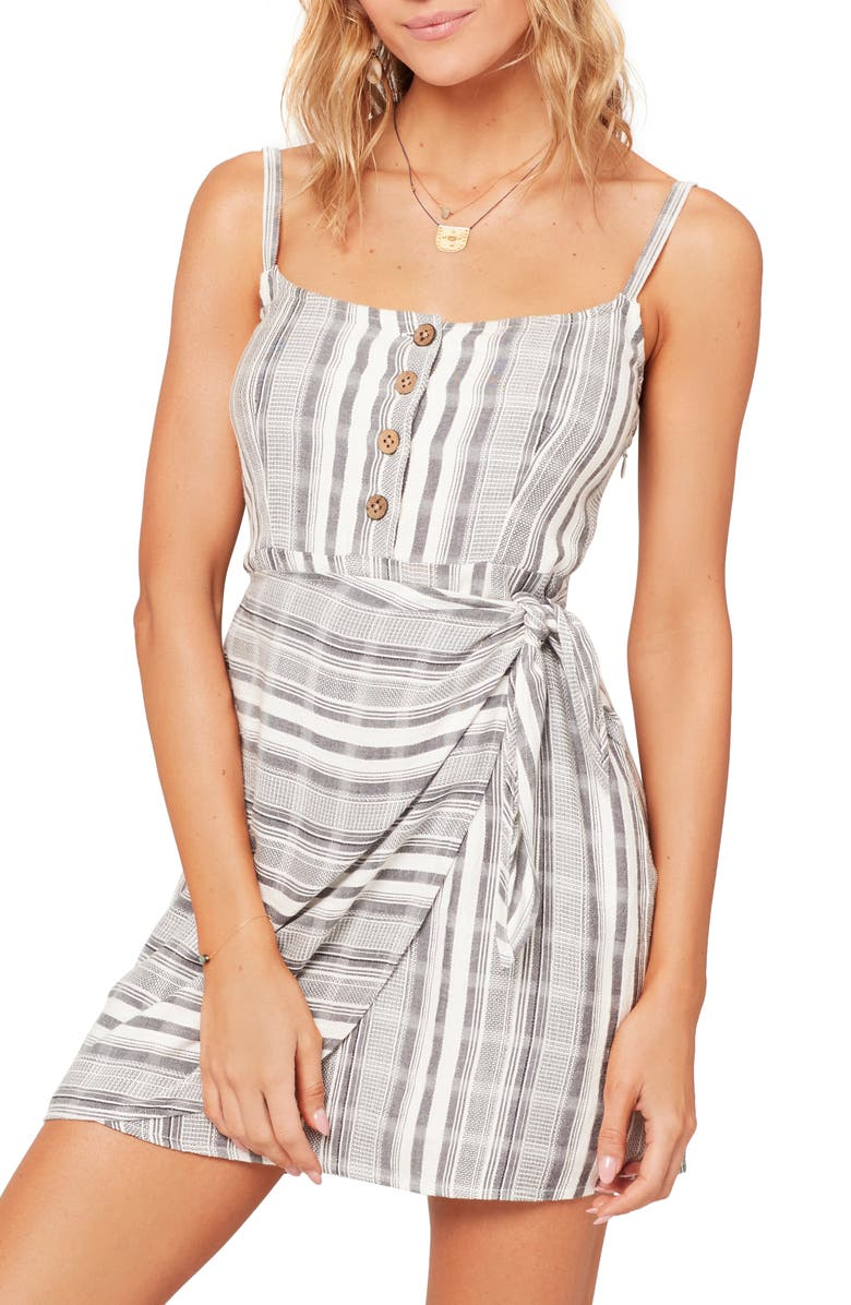 L SPACE Valery Cover-Up Minidress, Main, color, PCH STRIPE