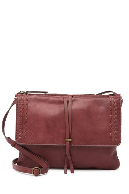 Image of Lucky Brand Orby Leather Crossbody Bag