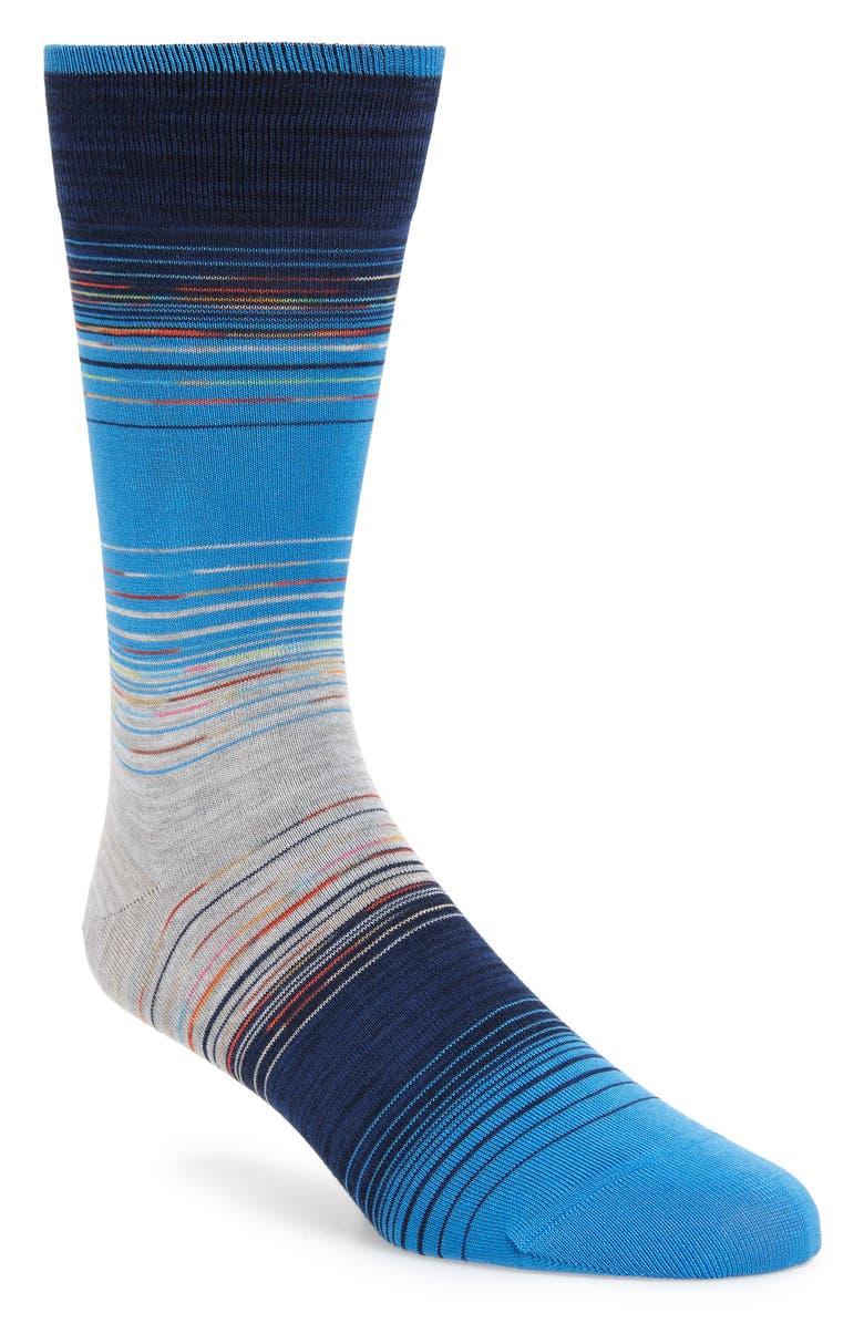 Bugatchi Space Dyed Mercerized Cotton Blend Socks