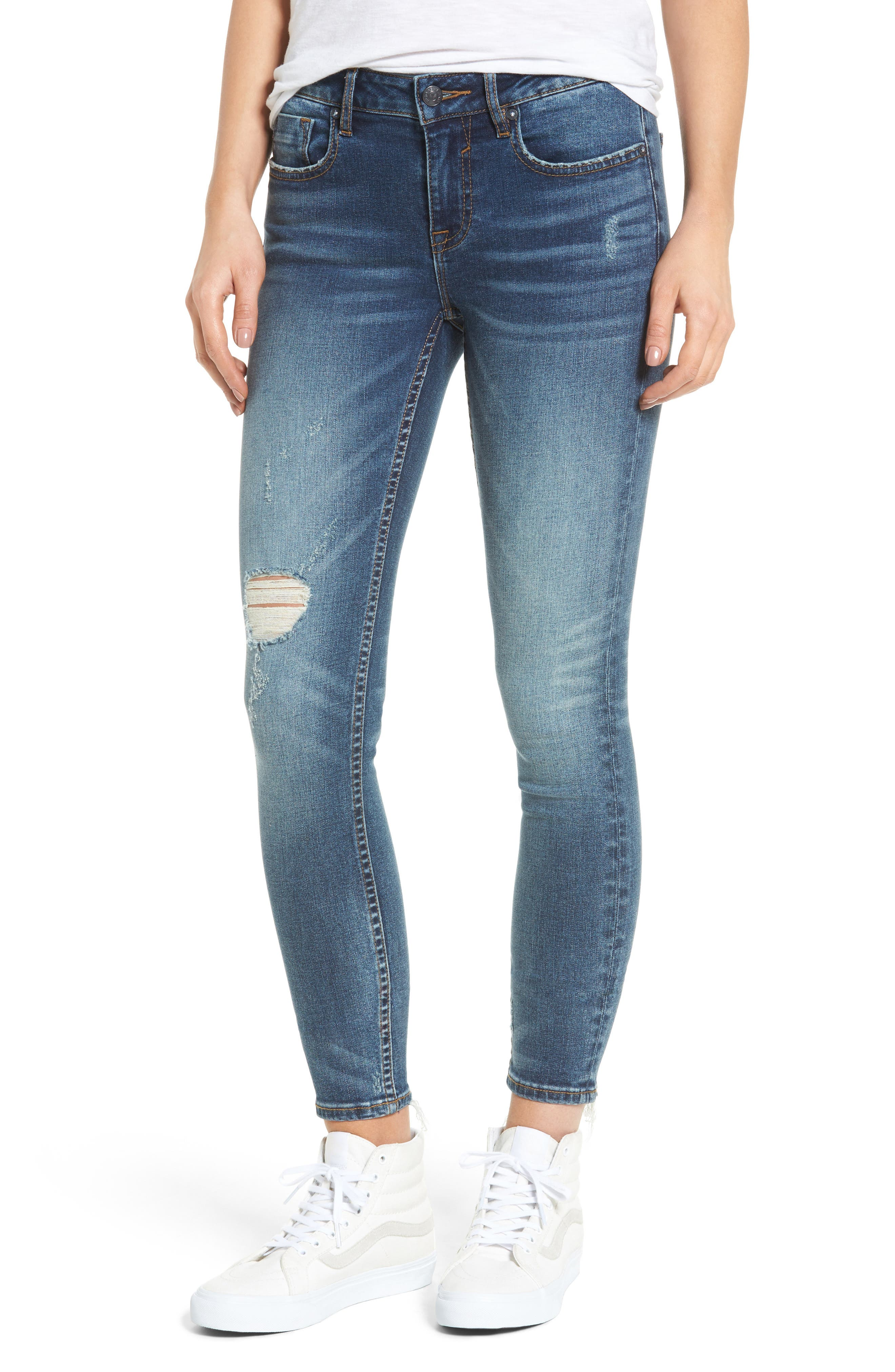 Jagger Ripped Skinny Jeans, Main, color, 400