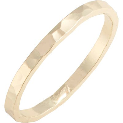 Argento Vivo Hammered Stacking Ring