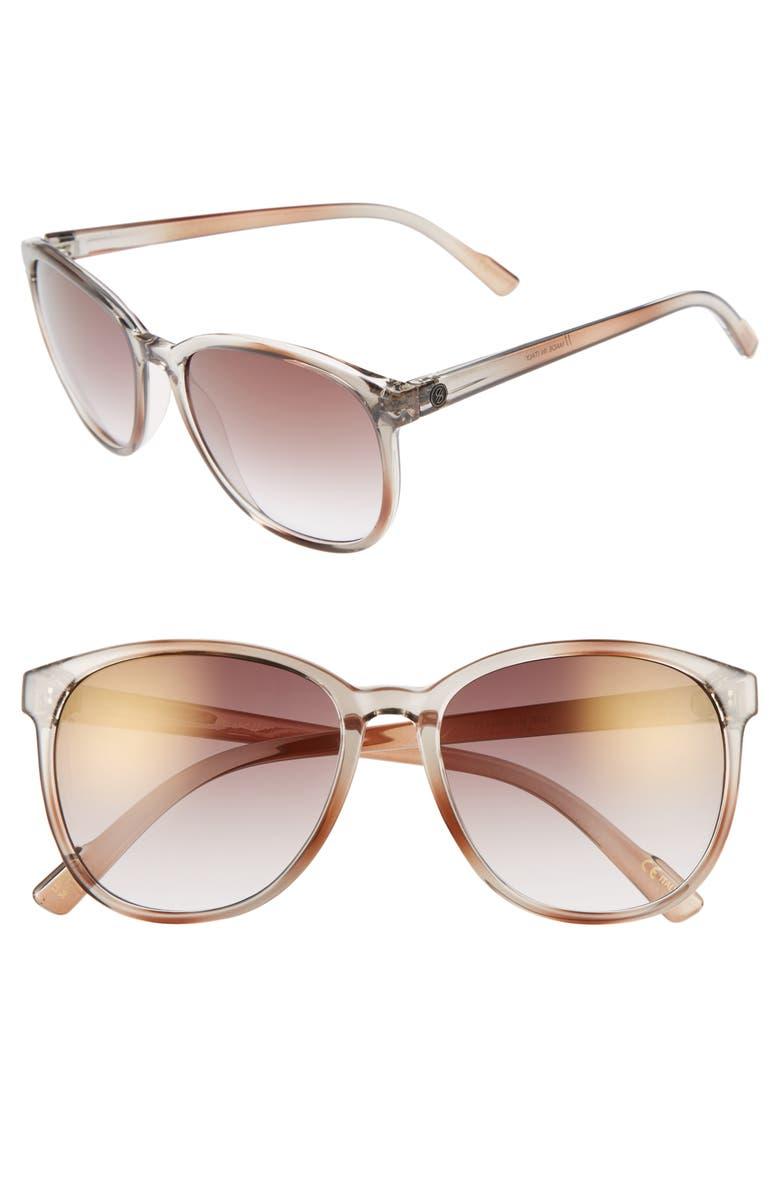 D'BLANC Afternoon Delight 56mm Gradient Lens Sunglasses, Main, color, BROWN OMBRE/ GRADIENT