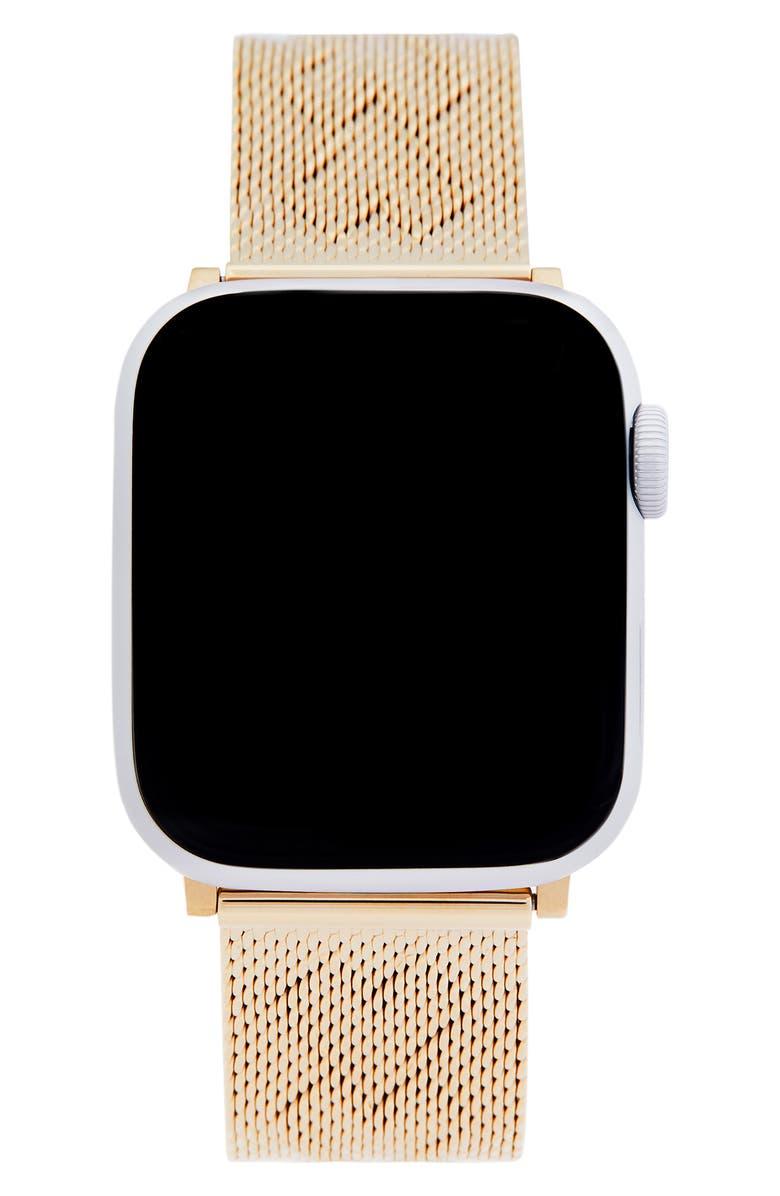 REBECCA MINKOFF Heart Apple Watch<sup>®</sup> Bracelet, Main, color, GOLD