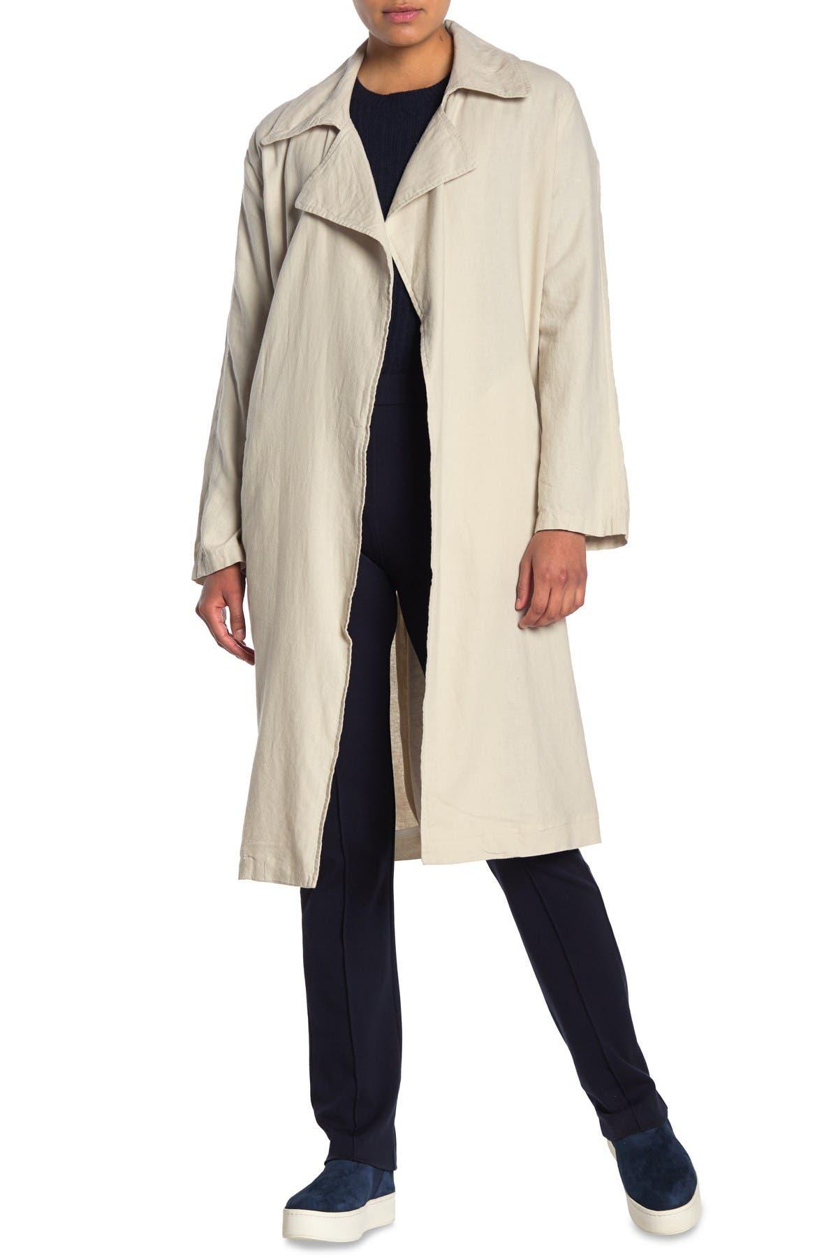 Linen Duster Linen Open Coat