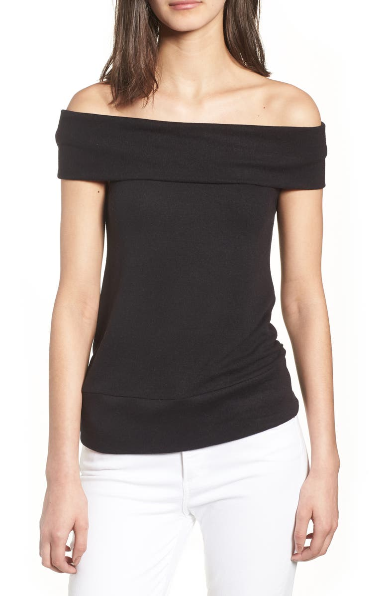 CUPCAKES AND CASHMERE Cathie Off the Shoulder Top, Main, color, 001