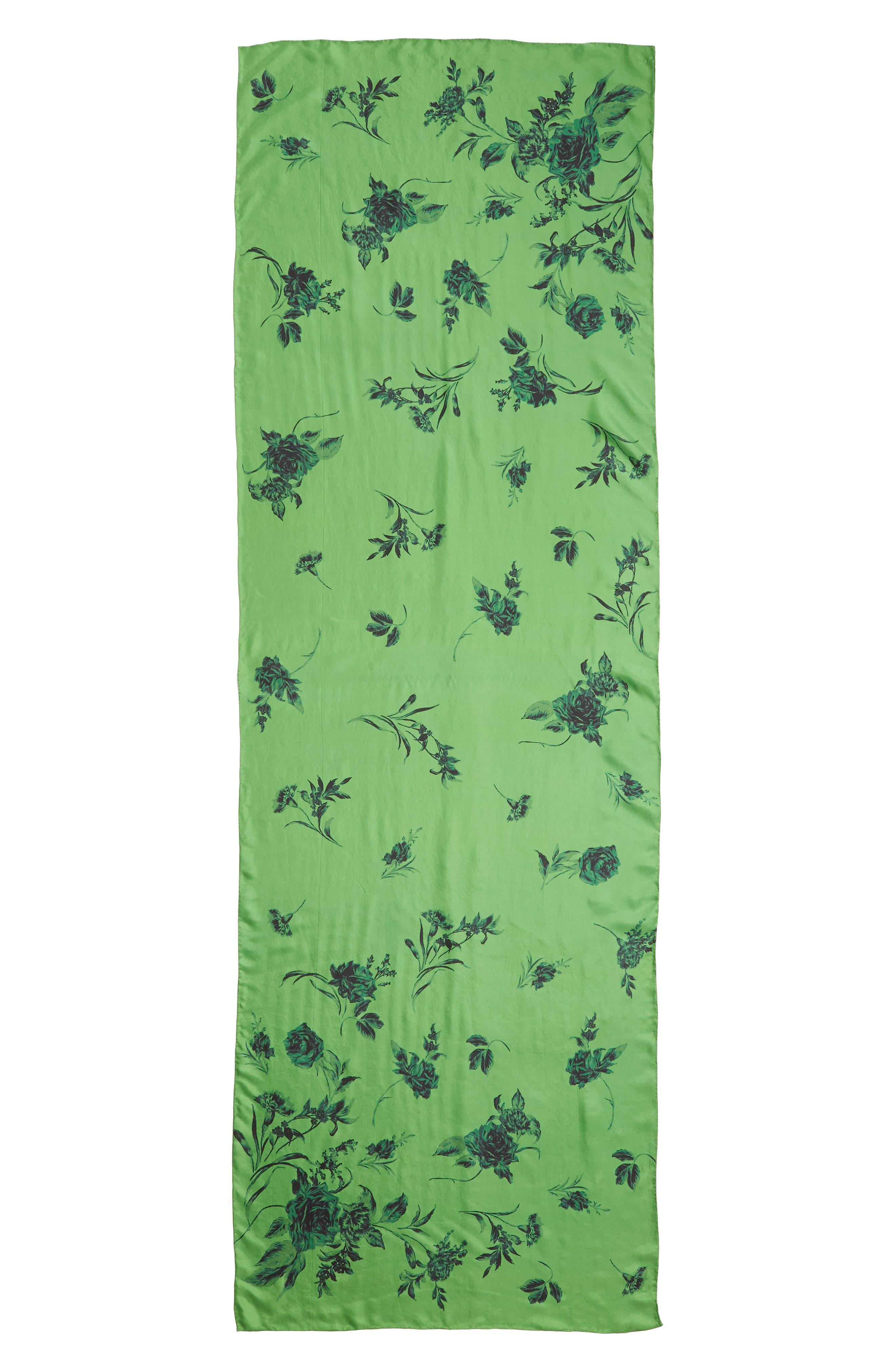 ,                             Floral Silk Wrap,                             Alternate thumbnail 3, color,                             310