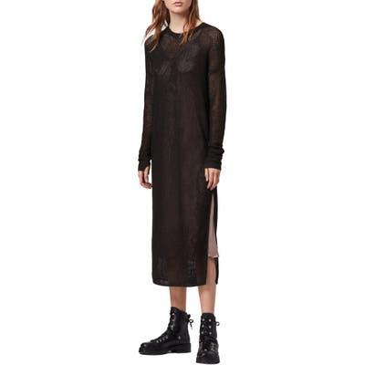 Allsaints Shine Two-Piece Mesh Dress, Black
