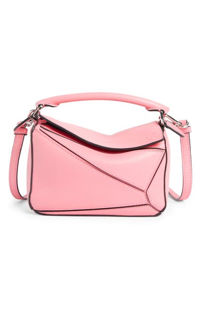 Loewe Bags PUZZLE MINI CALFSKIN LEATHER BAG - PINK
