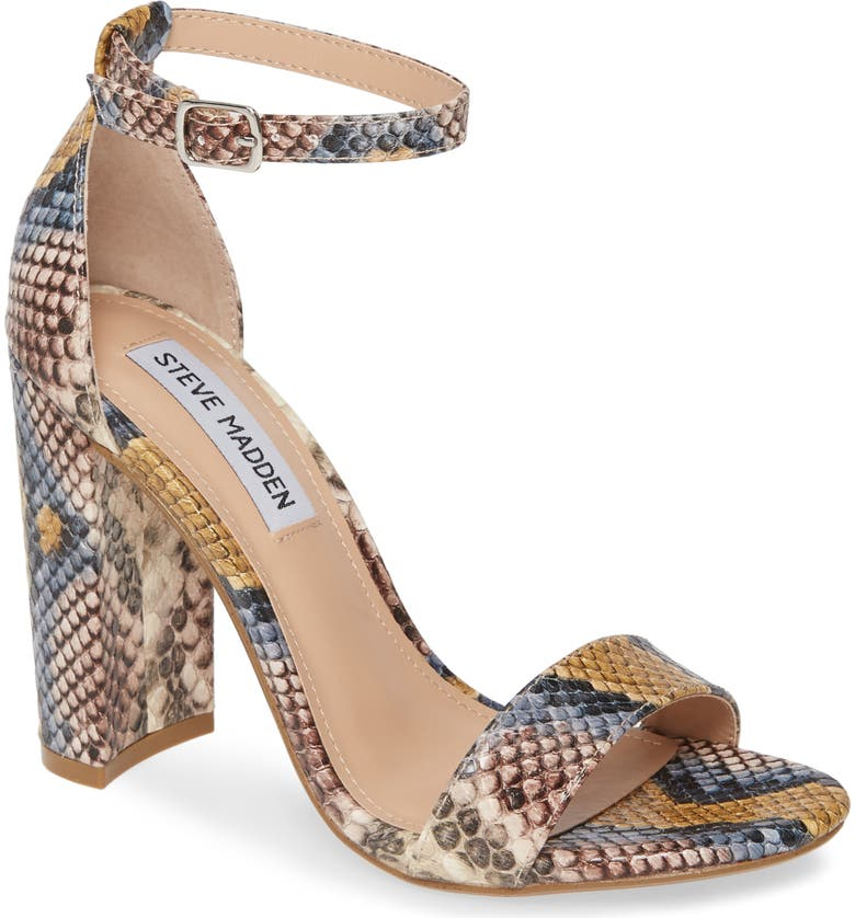 STEVE MADDEN Carrson Sandal, Main, color, BLUE SNAKE PRINT