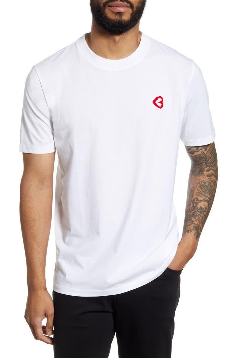 HUGO Dangels T-Shirt, Main, color, 100