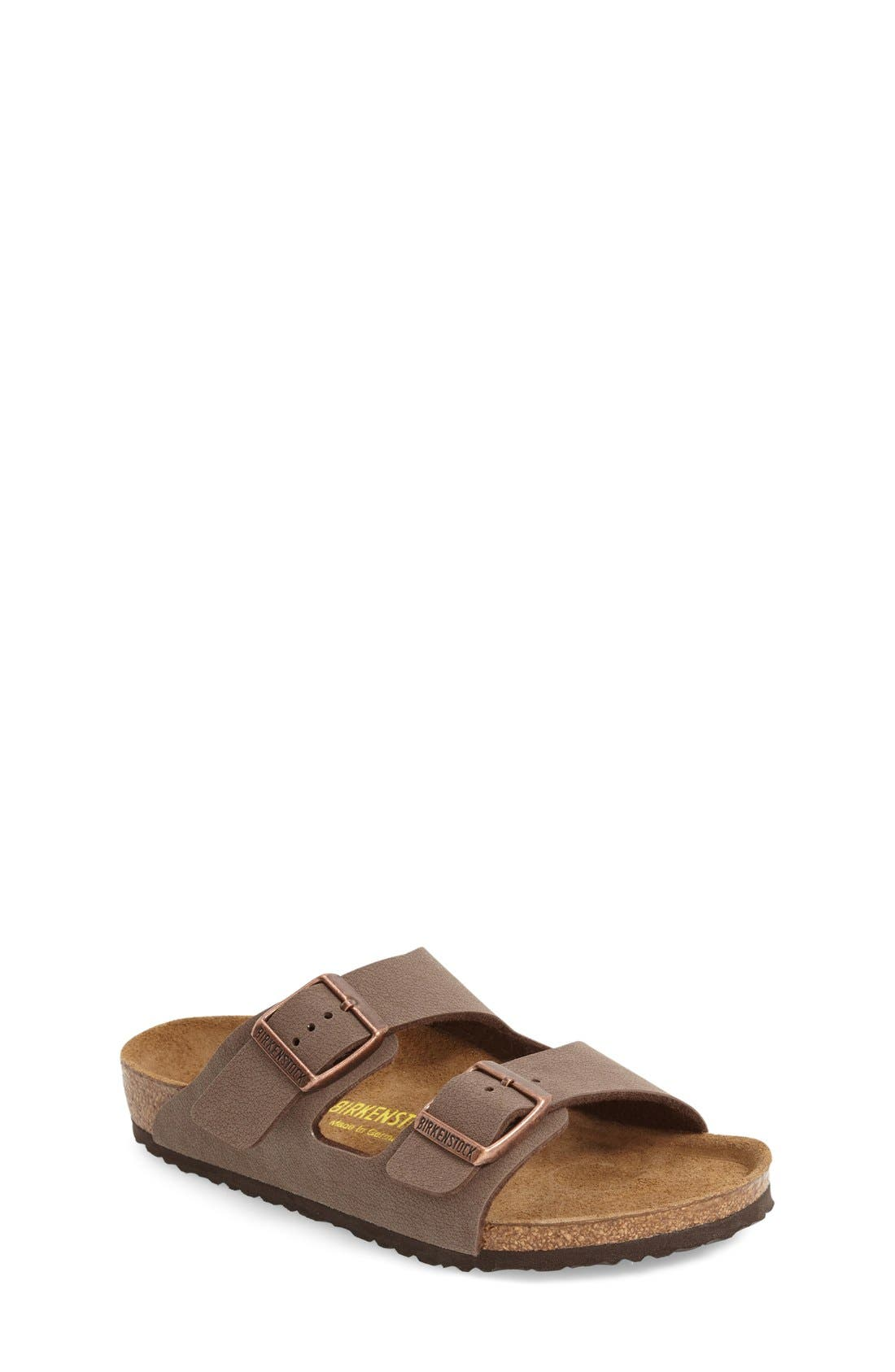 'Arizona' Suede Sandal, Main, color, MOCHA