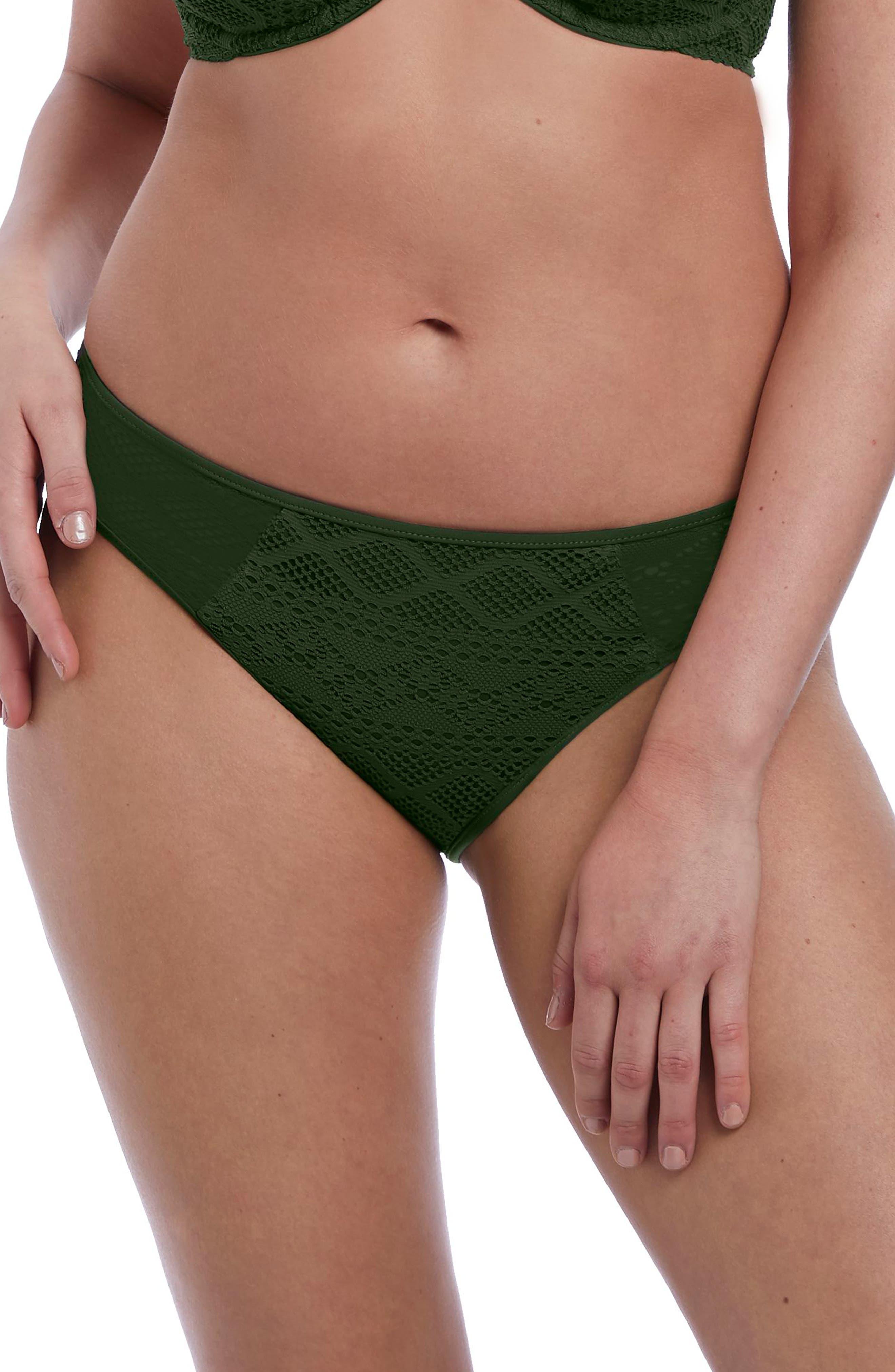 Freya Tie Sides Bikini Bottoms, Green