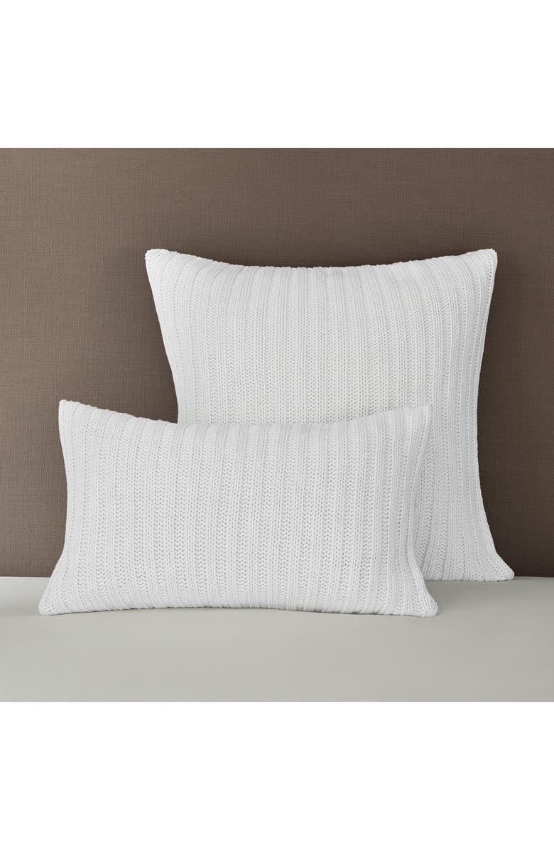 THE WHITE COMPANY Bailey Rib Cushion Cover, Main, color, WHITE