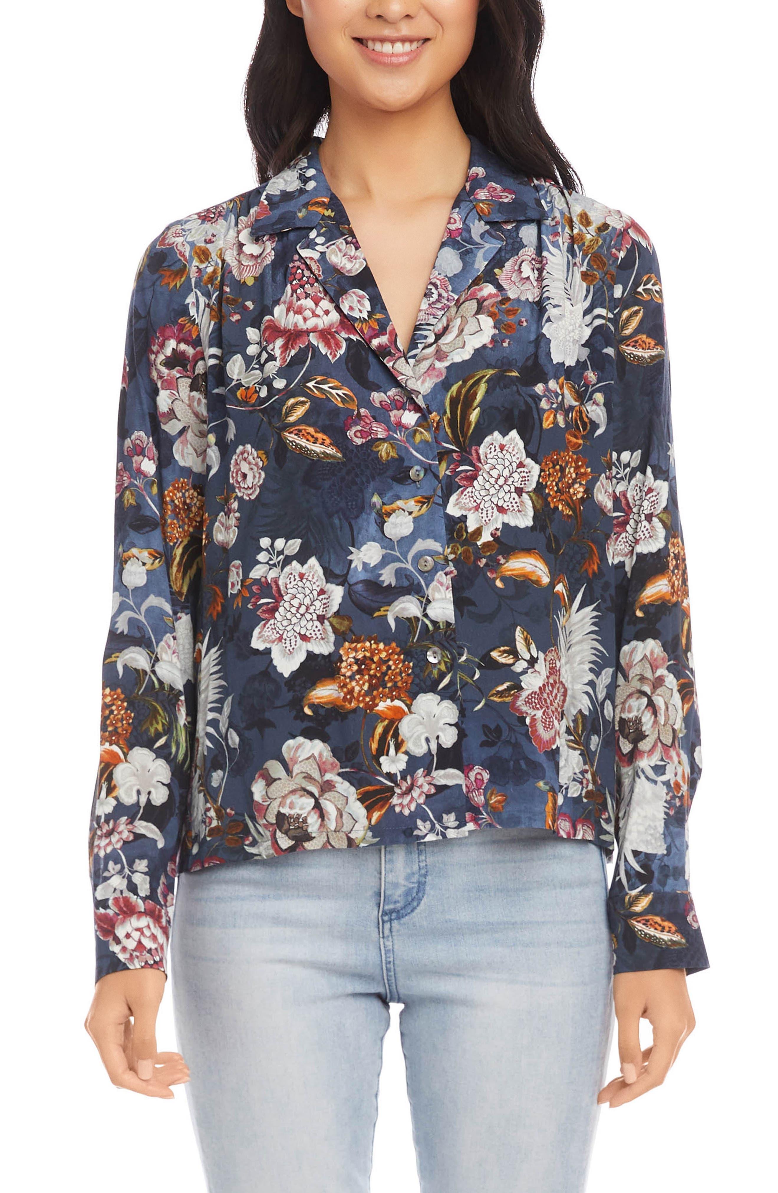 Floral Button-Up Shirt