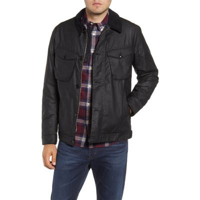 Barbour Keadby Water Resistant Waxed Cotton Jacket, Black