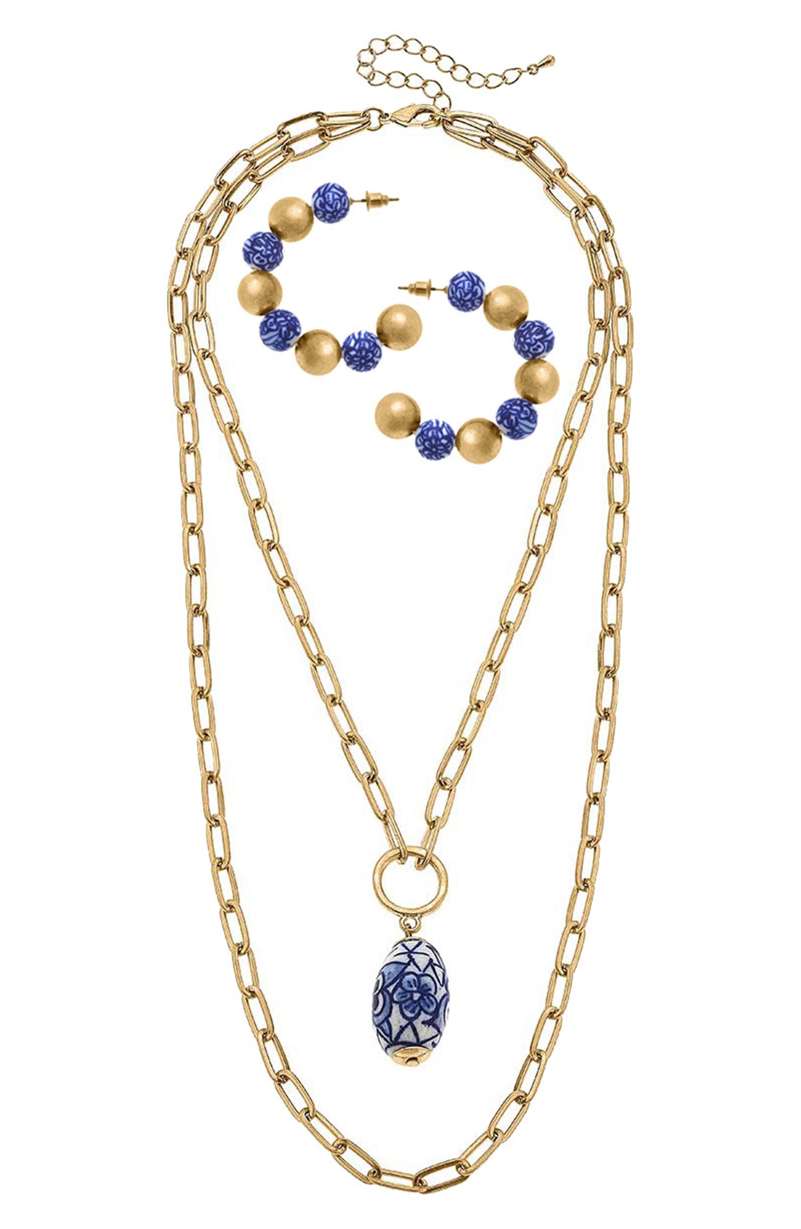 Bracelet & Layered Necklace Set