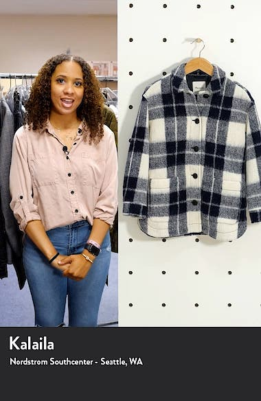 Women's Walton Colleton Plaid Shirt Jacket, sales video thumbnail