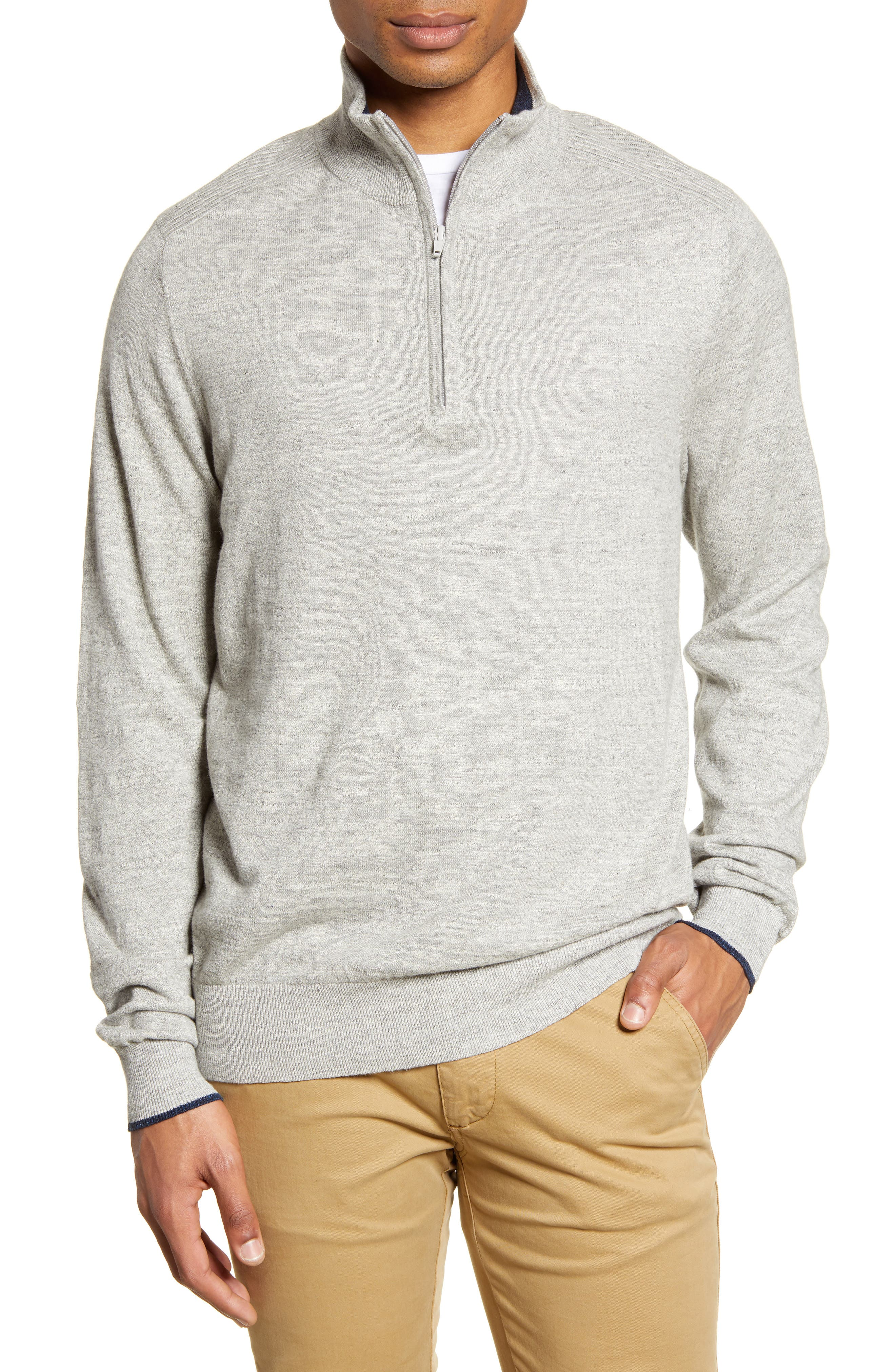 Image of RODD AND GUNN Harley Cotton Quarter Zip Sweater