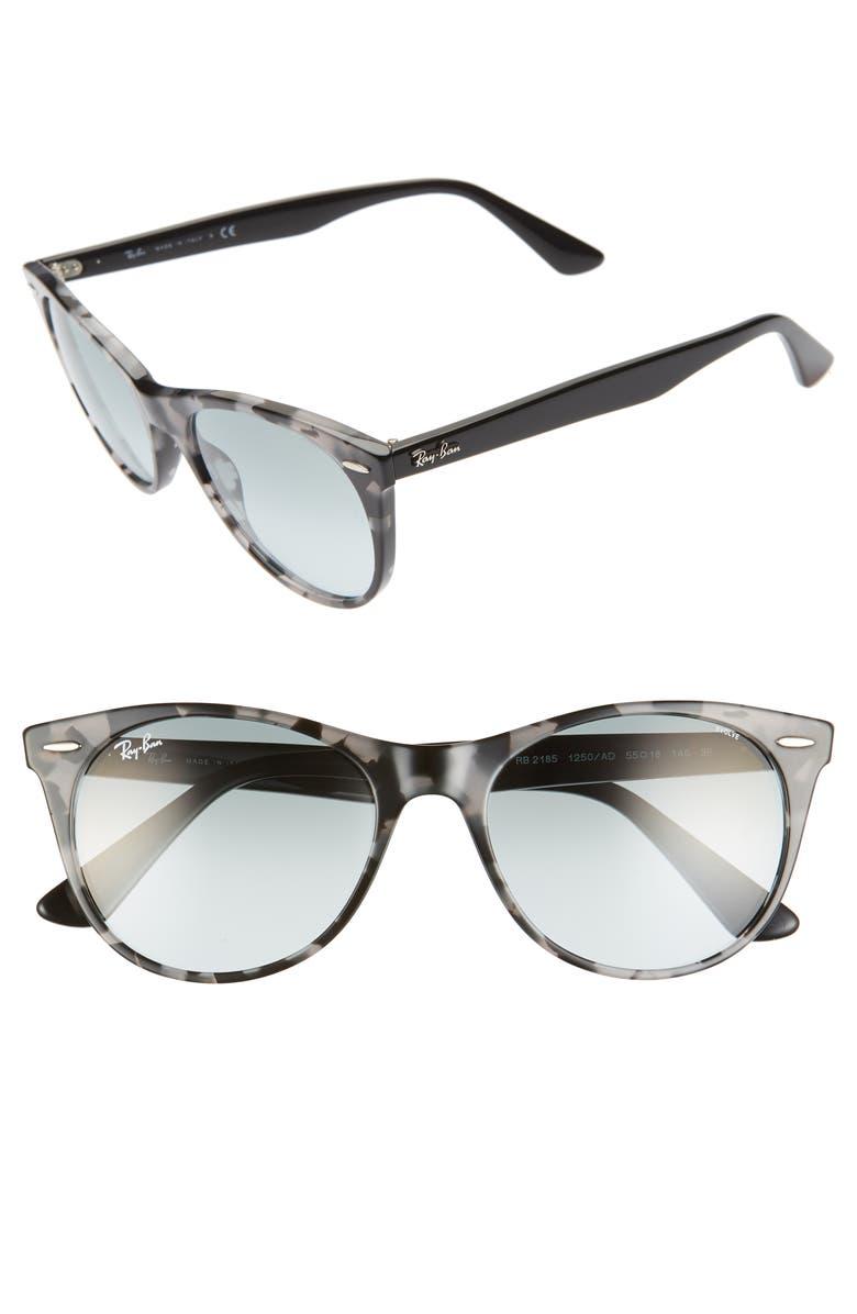 RAY-BAN Wayfarer II 55mm Polarized Photochromic Sunglasses, Main, color, GREY HAVANA SOLID