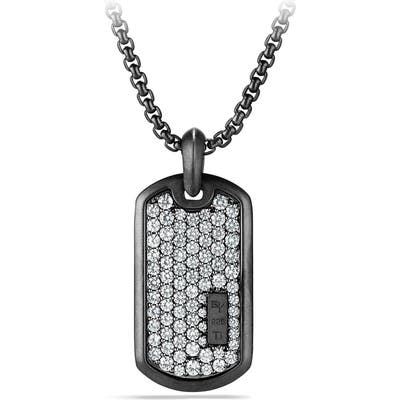 David Yurman Black Titanium Pave Tag