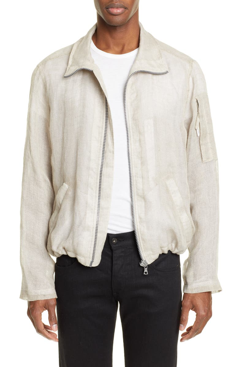 OUR LEGACY Shelter Crop Linen Jacket, Main, color, 040