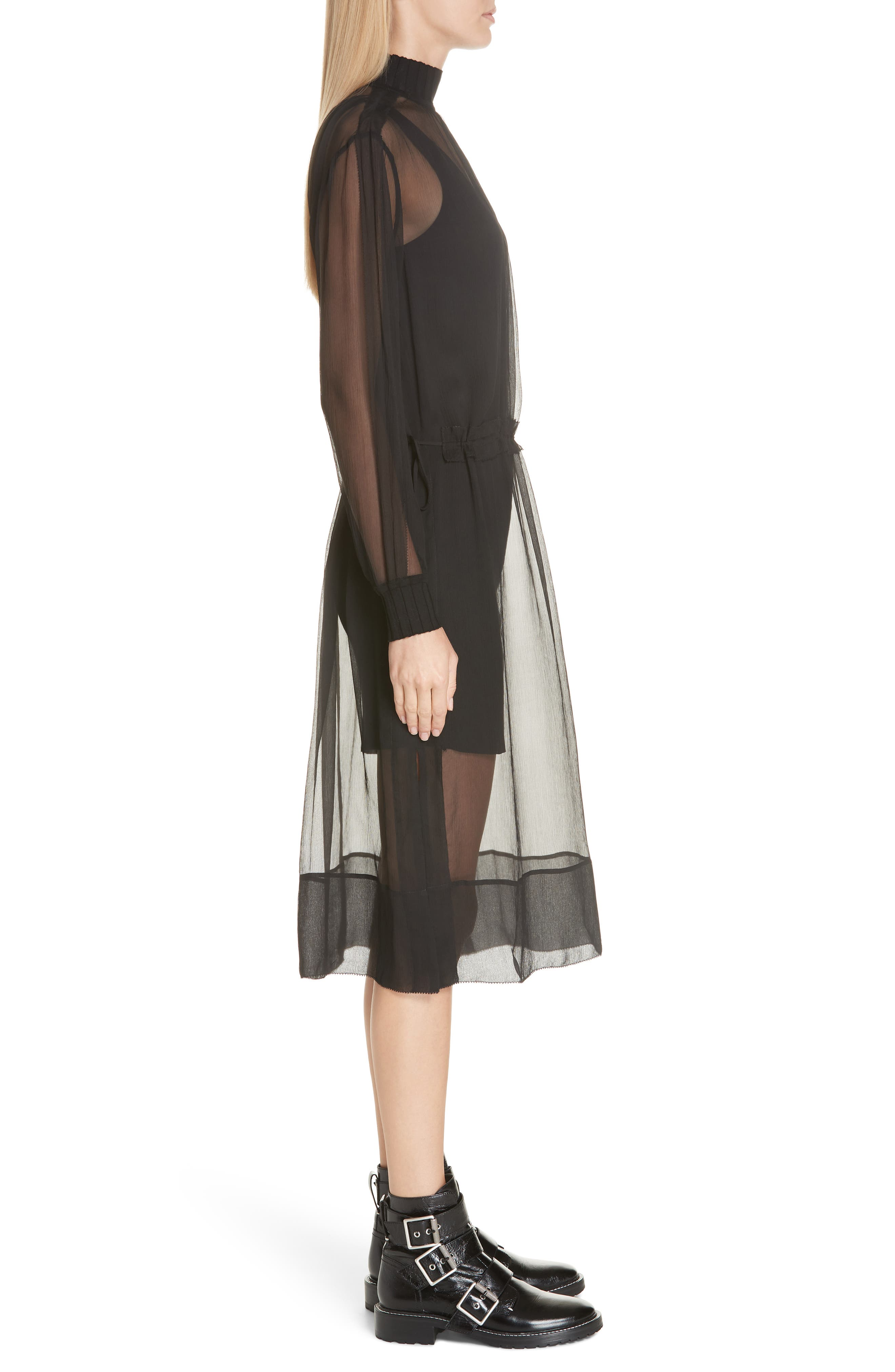 ,                             Dinah Silk Dress,                             Alternate thumbnail 4, color,                             001