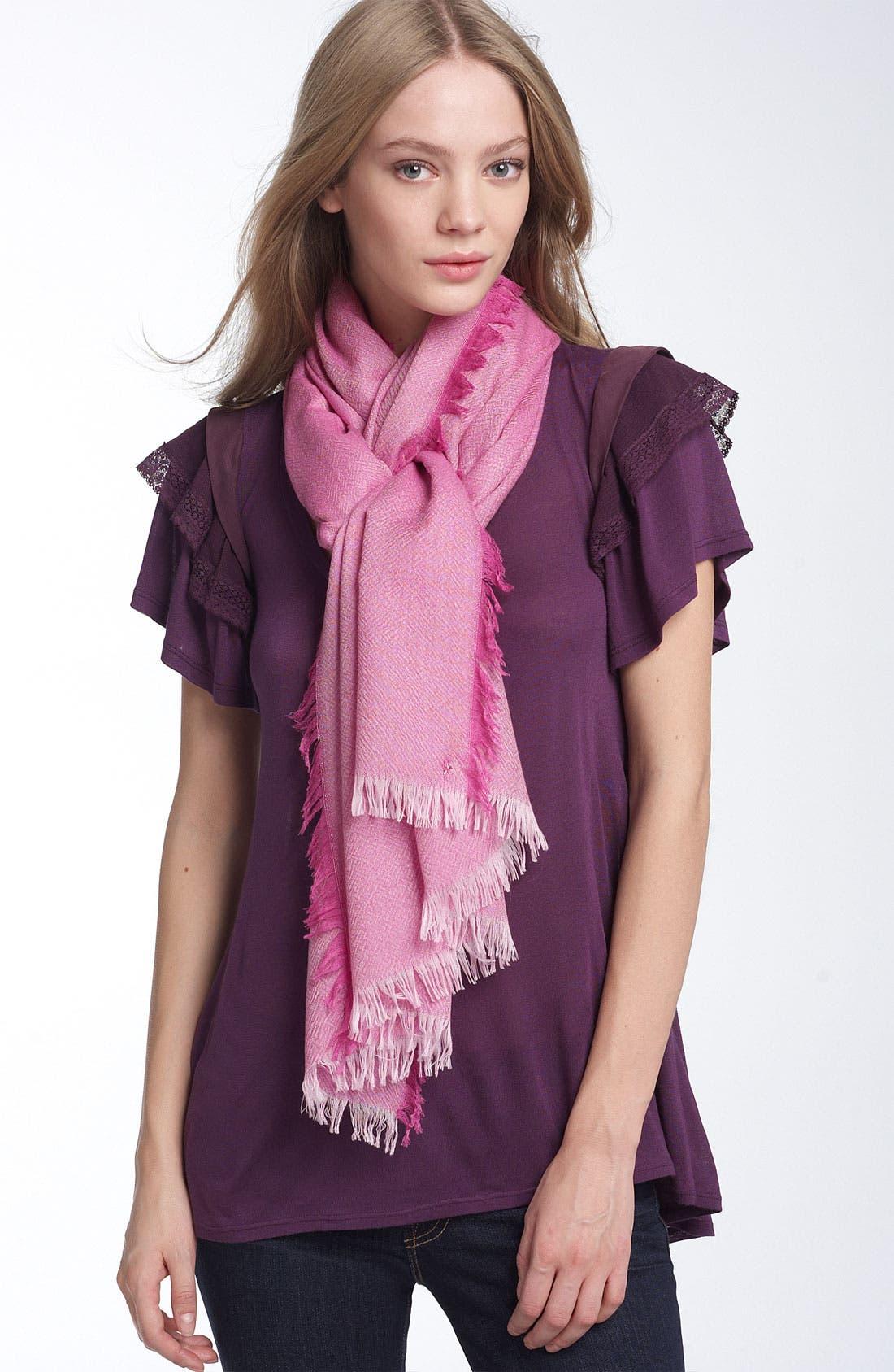 ,                             'Eyelash' Colorblock Cashmere Wrap,                             Main thumbnail 72, color,                             530