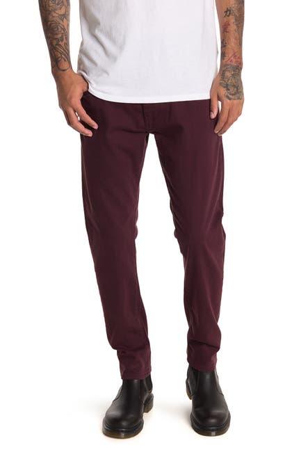 Image of Mavi Jake Burgundy Brooklyn Slim Jeans
